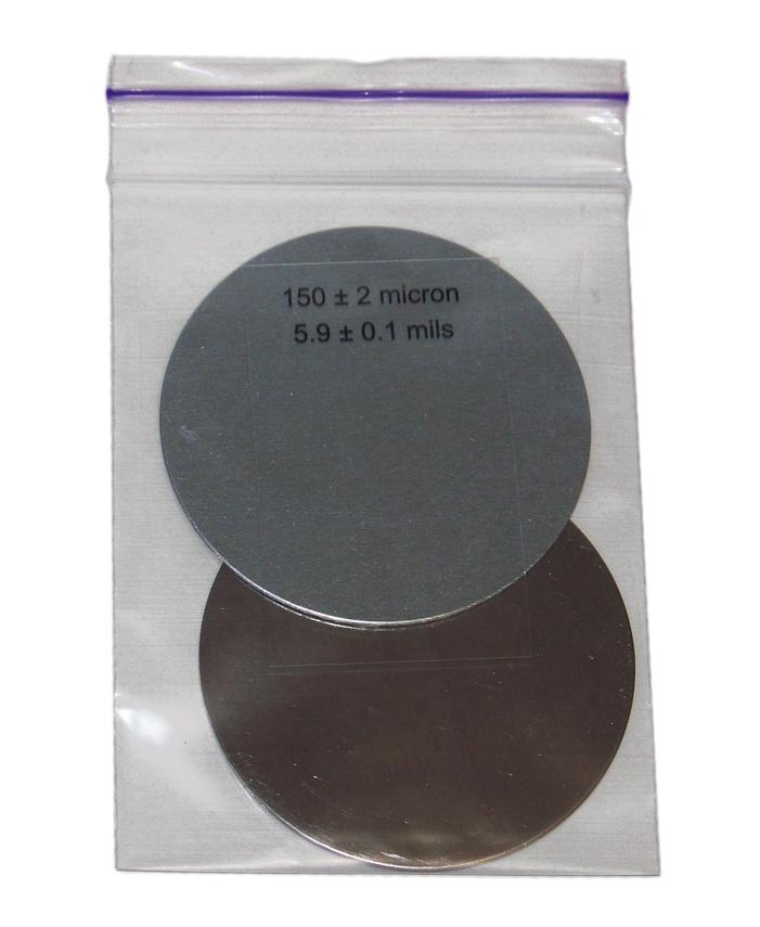 Комплект калибровочных пластин для толщиномеров (сталь, алюминий), фото, описание